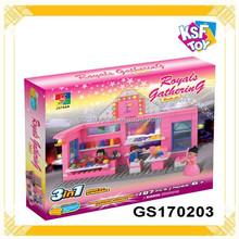 Plastic Material Building Blocks, Castle Building Blocks For Girls