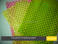 17g glossy wrapping paper custom printing tissue paper