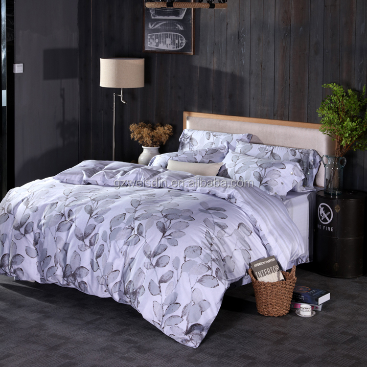 Luxury Home textile European design king size 4pc printed comforter bedding set