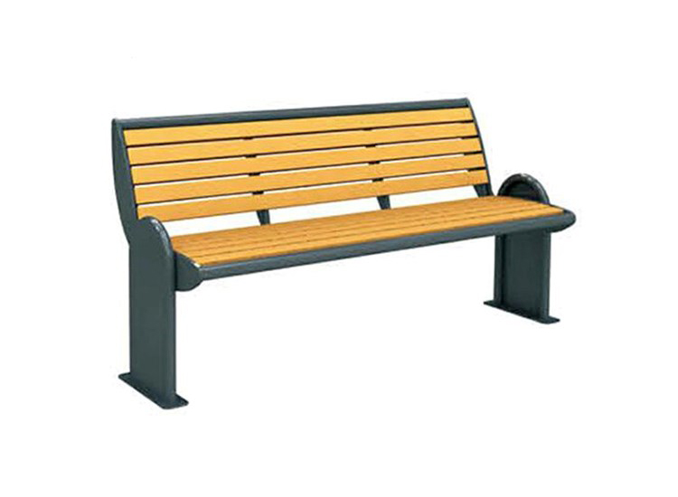 Bench for public park wooden parts foldable seat