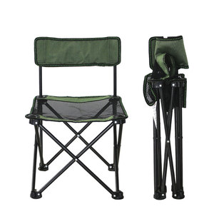 Portable Mini Outdoor Foldable Camping Chair with Mesh ,Durable backrest Folding Beach Chair For Fishing and Picnic