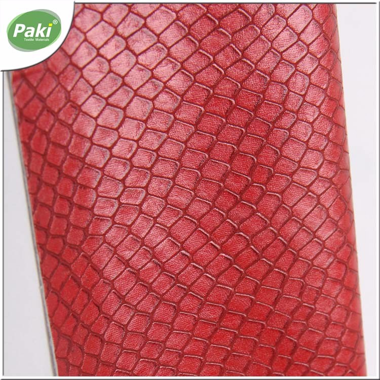 1mm classical AZO free PU snake artificial leather