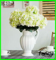 6 heads Wholesale colorful artificial hydrangea flowers hot sale for wedding decoration