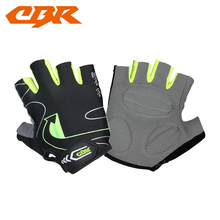 CBR bicycle gloves breathable lycra cycling riding half finger gloves sports gloves