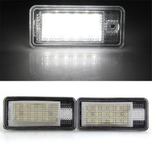 White 18 LED 3528 SMD License Plate Lights for AUDI A3 8P A6 4F