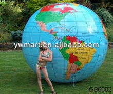 Promotional PVC inflatable big world map beach ball
