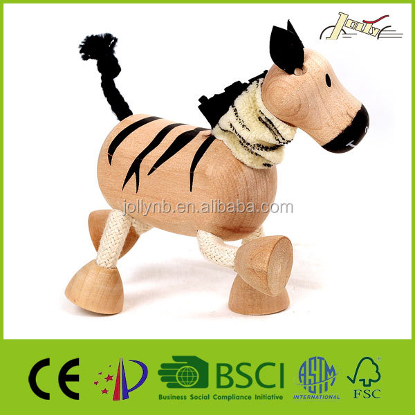 3D Zebra Wooden Animal Shape Education Toy for Teenagers