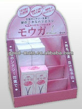 Cardboard Makeup Display Case, Cosmetics Display Stand