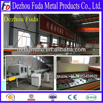 coated roof tile making machine, roof tile working line