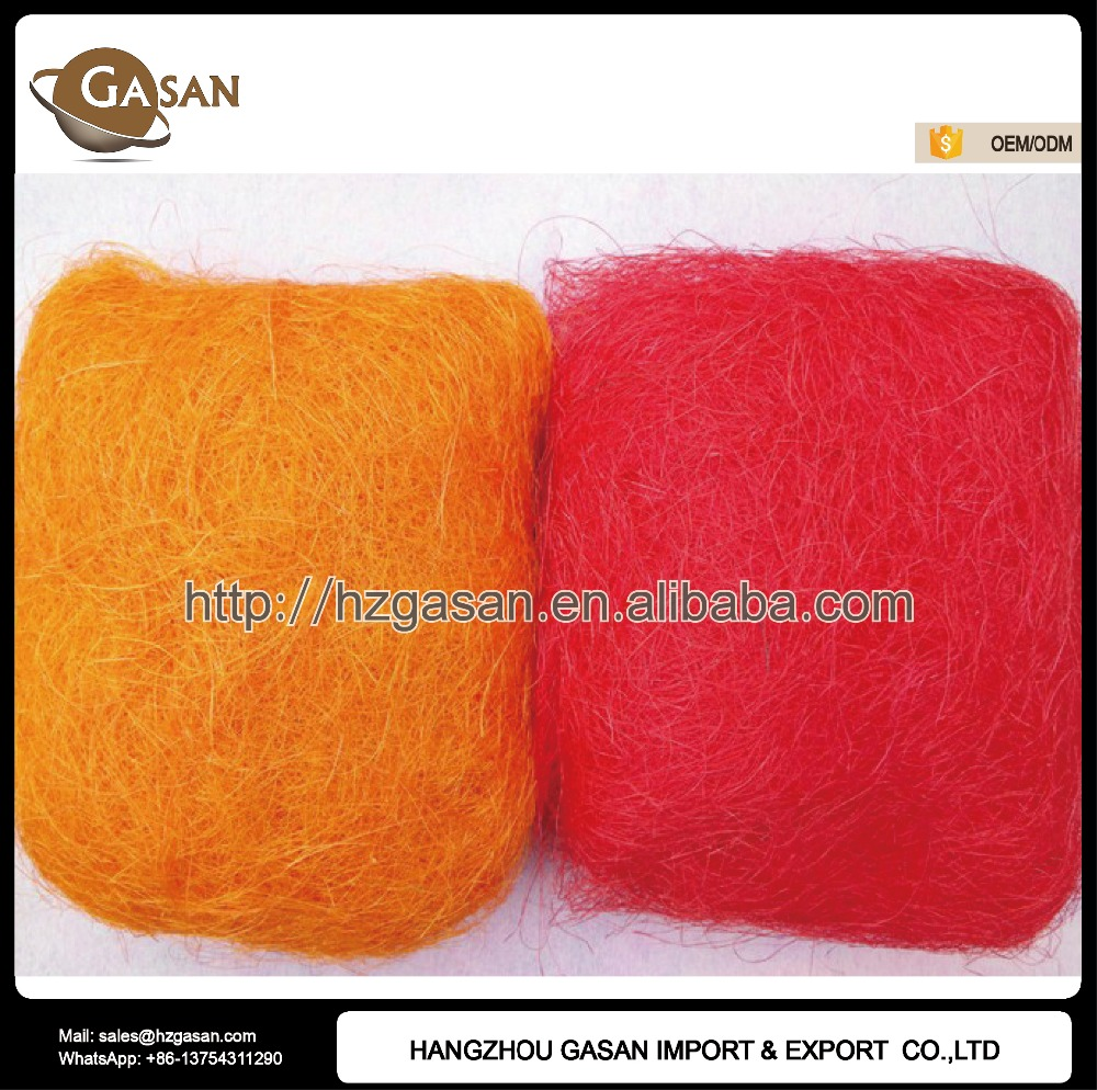 50g/bag 100% Natural Sisal Fiber For Festival Decoration Filling Material
