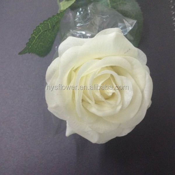 quality real touch small cream white rose ,natural white rose decoration flowers rose