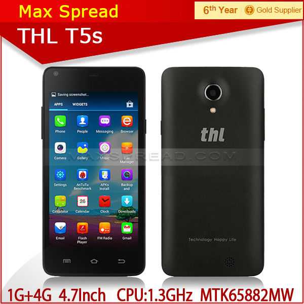 Quad core 3G THL T5S Smart Phone MTK6582 1.3GHZ Android 4.2 4.7inch alibaba express