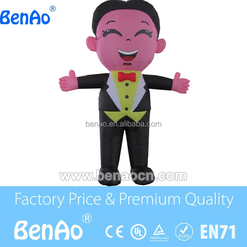 AC067 inflatable bride and groom, inflatable cartoon for chinese wedding,