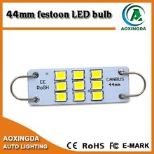 Exclusive 2835 9SMD rigid loop style car CANBUS LED 44mm festoon bulb