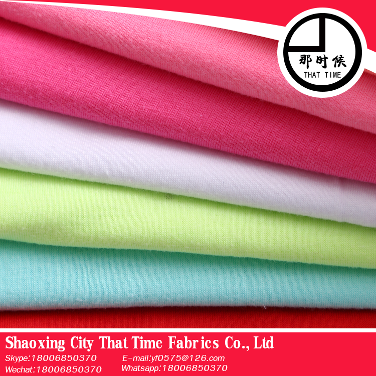 Global glaze new products That Time single cotton jersey knitted fabric