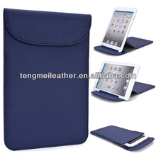New! Kroo Blue Flexi-Stand wallet pu leather slim bag case for ipad mini