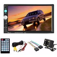 2 Din Car Radio Player 7 Inch HD Touch Screen Wireless Bluetooth Car Stereo MP5 MP3 Player Rear View Camera FM/USB/TF/AUX