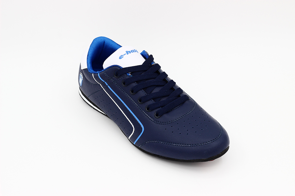 customized lace up blue comfortable leather shoes men sport running sneakers 2017