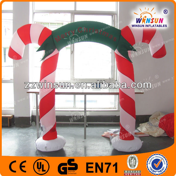 Pop selling holiday decoration Christmas inflatable arch