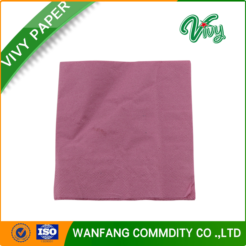 23*23cm, 100% virgin wood pulp, 1/4 fold, dinner napkin paper tissue