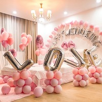 Inflatable Helium Birthday Wedding Party Letter Foil Balloon With Latex Balloon
