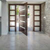 Main Entry Door Morden Design Pivot Wood Doors with Sidelights