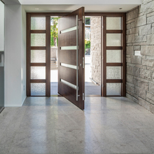 US Villa Main Entry Door Modern Design Pivot Wood Doors with Sidelights