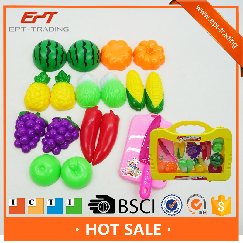 Diy toy plastic kitchen food toys cuttable fruit toy set