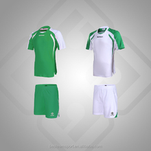 Adult green game uniform home and away soccer uniform