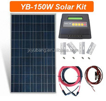 1X150 Watt Poly solar panel system off grid pv system for home caravan motorhome