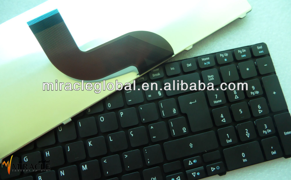 Layout BR/Brazil laptop keybaord for Acer 5736 5742 5745 notebook keyboard