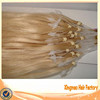 Hot selling 5a grade hair factory cheap wholesale remy human silicone lined micro rings loop hair extension