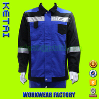 Factory directly customizable navy blue reflective work jacket