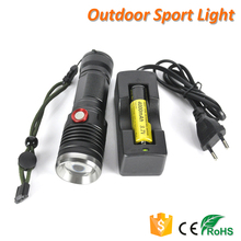 Super Bright High Power 4 Modes USB Charger CREE LED Focus Flashlight
