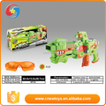 China supplier green plastic new on-line BO kids gun toy set