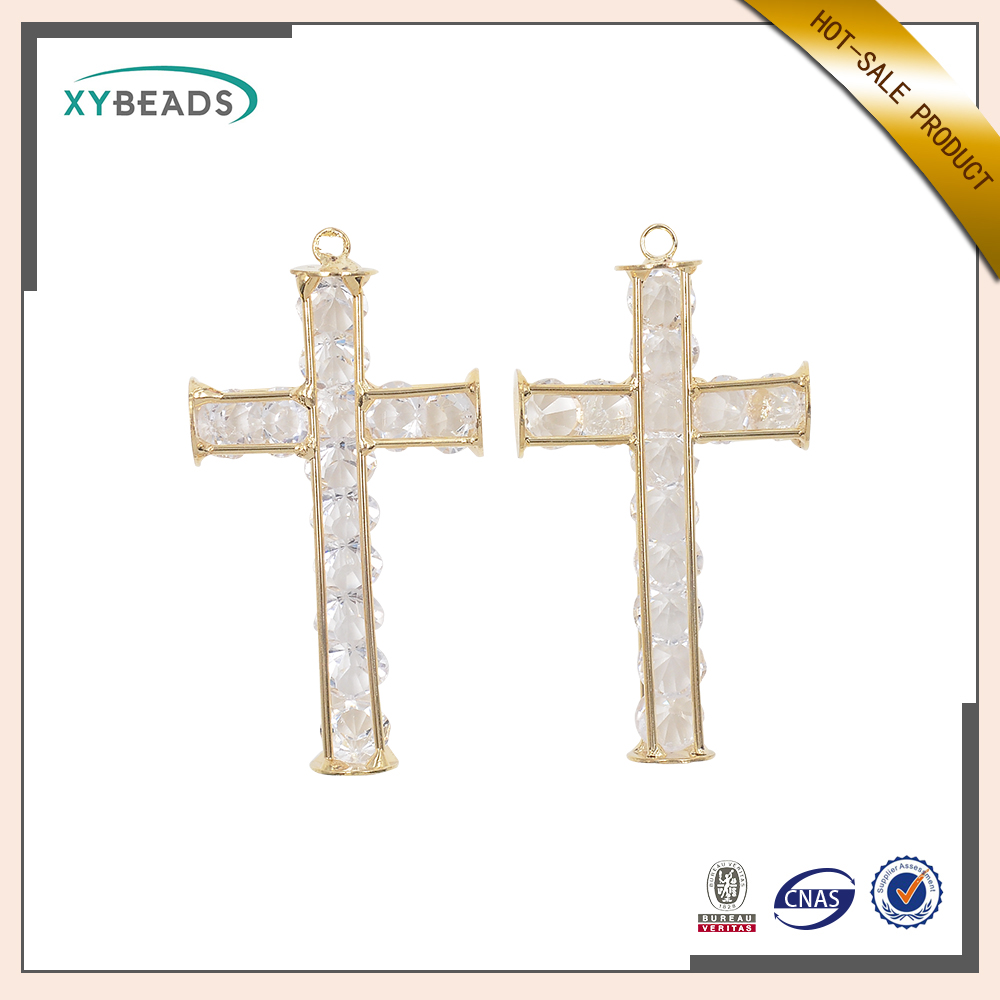 2016 Hot sale gold and crystal pendant jewelry neckalce
