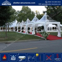 Newest arrival clear roof pagoda wedding tent reception marquee