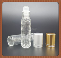 1ml 2ml 3ml roll on glass bottle with plastic roller ball/Small empty glass bottle for wholesale