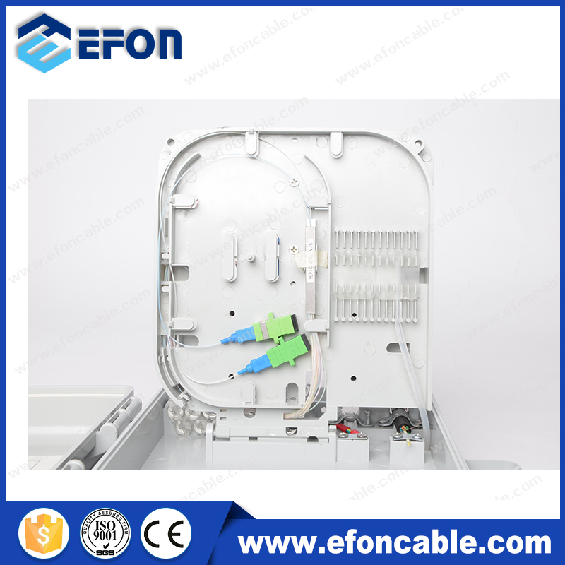 1*16 PLC Splitter 16port Outdoor Optical Cable Distribution Box, split cable entry