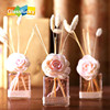 transparent glass flower fragrance diffuser bottle for home decor