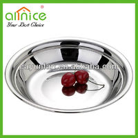 Triple mirror polish stainless steel serving platter/round plate/food plates