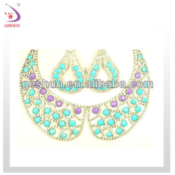 2013Charm jewelry set with beauty color bead for ladies