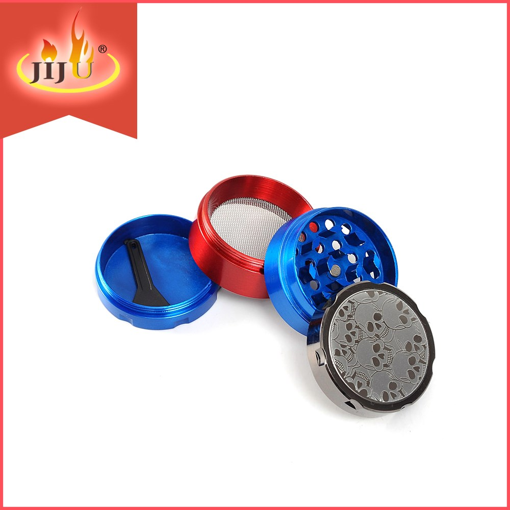2016 JL-059JA Yiwu Jiju Chinese Metal Herb Grinder with Pollen Scrapper