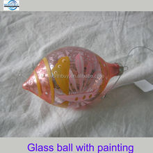 Butterfly decorated Christmas glass ball ornaments from Shenzhen factory