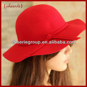 2013 fashionable design new style ladies pretty elegant wool felt hat