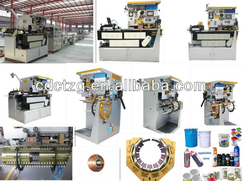 Fully automatic aerosol tin container making machine