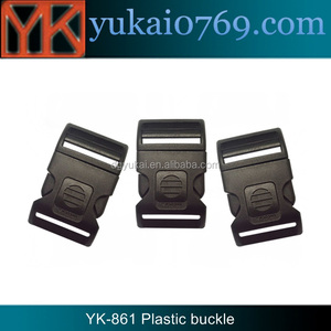 Yukai logo engraved plastic paracord buckle/adjustable bag buckle with lock