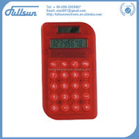 8 digit mini slim card solar power pocket calculator FS-1301