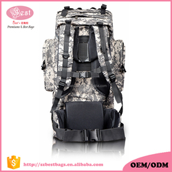 Top quality camouflage 600D polyester military backpack