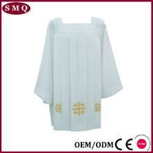 Commercio all'ingrosso bianco clergy cotta merletto clergy cotta
